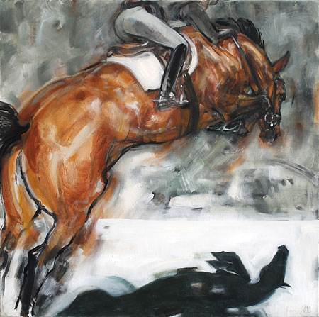 Rosemary Parcell nz horse artist, oil on canvas